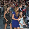 Les filles de Sylvester Stallone à l'avant-première de  Expendables 2  à PAris, le 9 août 2012.