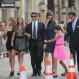 Sylvester Stallone, sa femme Jennifer et leurs filles Sophia, Sistine et Scarlet à l'avant-première de  Expendables 2  à Los Angeles, le 15 août 2012.