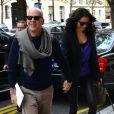 Bruce Willis et son épouse Emma Heming à Paris, le 16 octobre 2012.