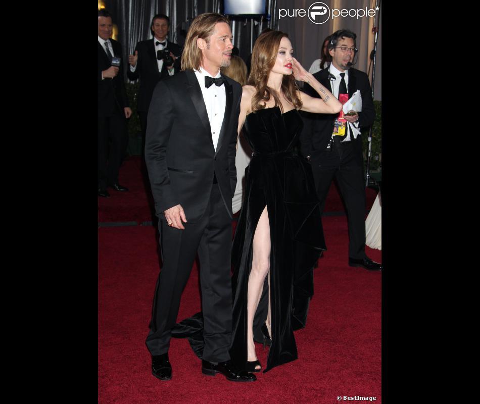 Brad Pitt et Angelina Jolie, en février 2012 à Hollywood.