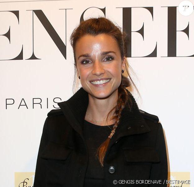 Exclusif - Céline Bosquet assiste à l'inauguration de la boutique de lingerie Insensee à Paris, le 18 Octobre 2012.