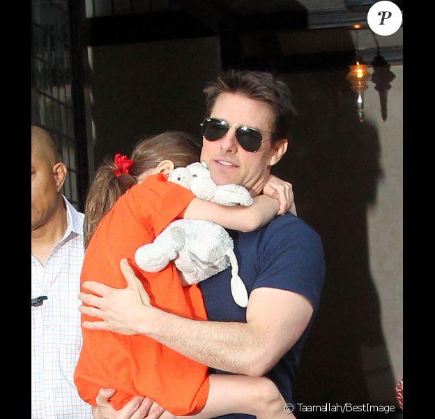 Tom Cruise et sa fille Suri à New York en juillet 2012.