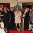 Céline Dion et ses jumeaux Nelson et Eddy à Las Vegas le 16 février 2011.