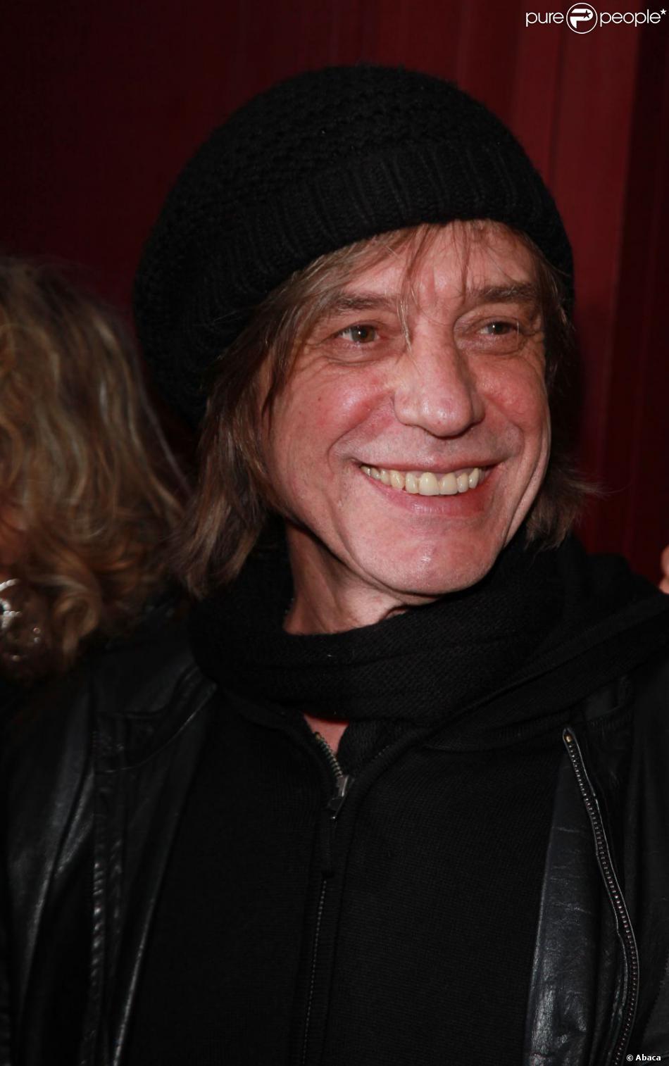 Jean-Louis Aubert à Paris, le 12 janvier 2012.