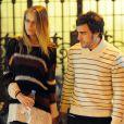 Fernando Alonso et sa belle Dasha Kapustina après une soirée en amoureux passée au cinéma et au restaurant le 1er novembre 2012 à Madrid