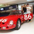 Fernando Alonso et sa dulcinée Dasha Kapustina visite le musée Ferrari le 23 juillet 2012 à Maranello