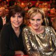 Patricia Kaas et Liane Foly sur le plateau de l'émission Le Plus Grand Cabaret du Monde, le 2 octobre, diffusion le 1er décembre 2012.