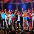 Patrick Sébastien sur le plateau de l'émission Le Plus Grand Cabaret du Monde, le 2 octobre, diffusion le 1er décembre 2012.