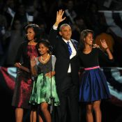 Barack Obama réélu : La joie aux côtés de Michelle et ses filles Malia et Sasha