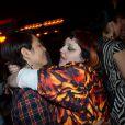 Beth Ditto et sa fiancée à l'after-show du concert de son groupe Gossip, au Titty Twister à Paris, le 7 novembre 2012.
