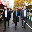 Valerie Trierweiler a fait un petit tour sur le marché de Brive-la-Gaillarde lors de son passage à la Foire du livre le 10 novembre 2012