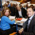 Valérie Trierweiler et Stéphane Ruet, auteurs du livre  François Hollande président, 400 jours dans les coulisses d'une victoire  durant la 31e Foire du Livre de Brive-la-Gaillarde en Corrèze le 10 Novembre 2012