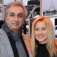 Lara Fabian et son ex-compagnon Gérard Puliccino le 14 décembre 2011.
