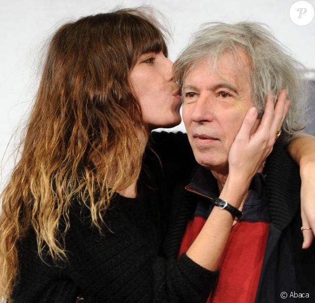 Lou Doillon et son père Jacques Doillon présentent Un enfant de toi au 7e Festival du Film de Rome, le 15 novembre 2012.