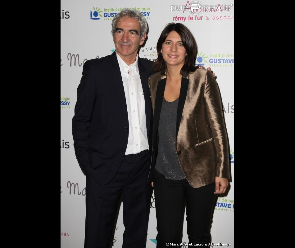 Estelle Denis et Raymond Domenech au premier dîner de Gala de L'étoile de Martin au Mini Palais à Paris, le 29 Novembre 2012.