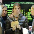 Athina Onassis, blessée aux vertèbres, avec son mari Alvaro de Miranda Neto (Doda) au Gucci Masters à Paris, le 30 novembre 2012