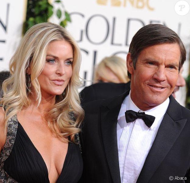 Dennis Quaid et sa femme Kimberly Buffington aux Golden Globes en janvier 2011. Fin 2012, le couple divorce.