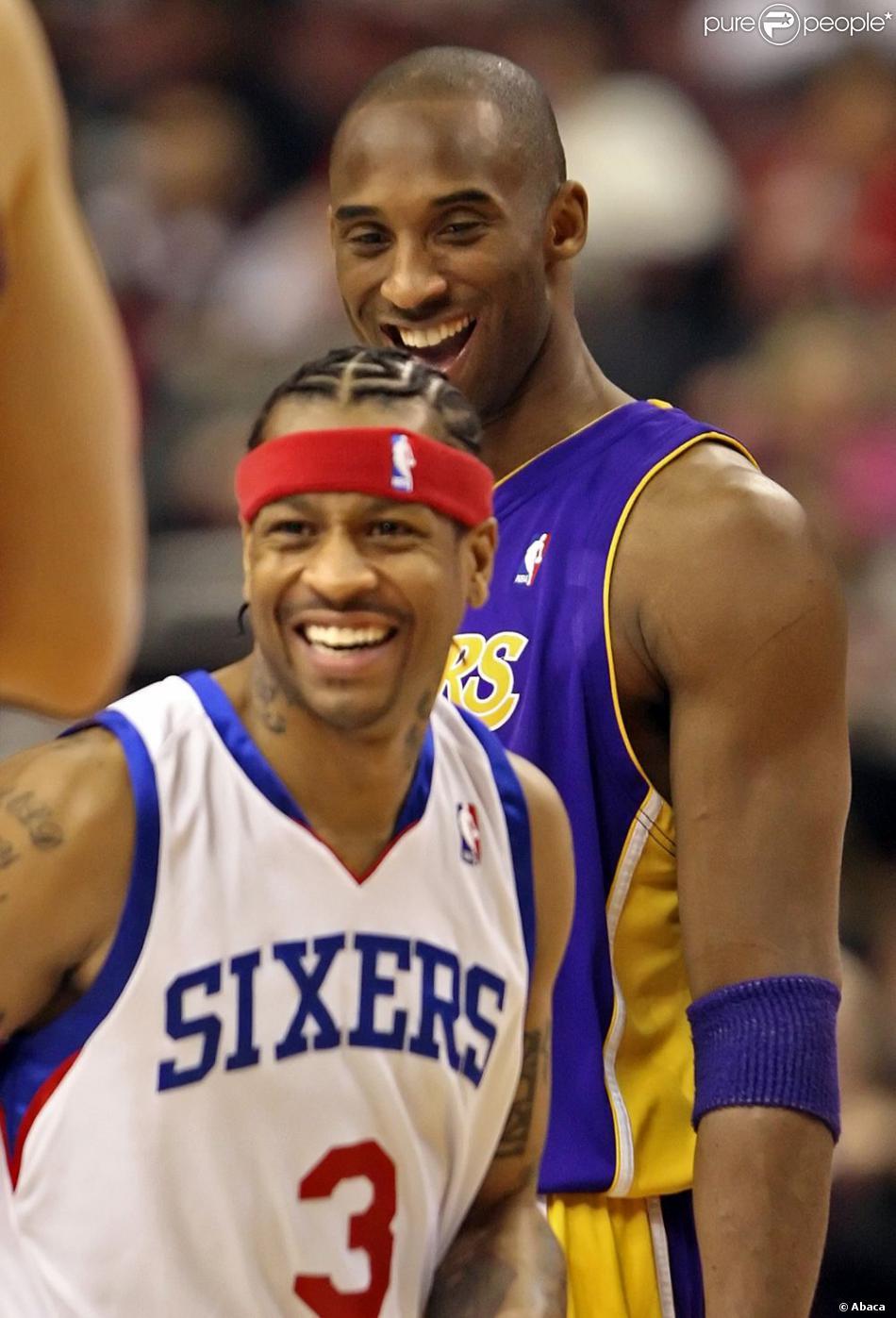Kobe Bryant 76ers Allen Iverson et Kobe Bryant