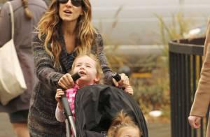 Sarah Jessica Parker : De retour dans Glee, elle assure avec ses jumelles !