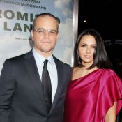 Matt Damon : Classieux en Terre promise au bras de sa superbe femme Luciana