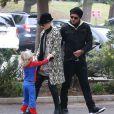 Sortie en famille pour Gwen Stefani, son mari Gavin Rossdale et leurs fils Kingston et Zuma. Los Angeles, le 8 décembre 2012.