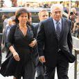 Dominique  Strauss - Kahn  et Anne Sinclair à New York  le 23 août 2011.  Le procureur leur signifie l'abandon des poursuites au pénal.