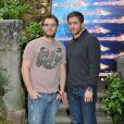 Duncan Jones en promo de Source Code avec Jake Gyllenhaal, le 6 avril 2011 à Rome