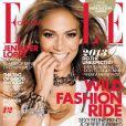 Jennifer Lopez en couverture du  Elle  Canada pour le mois de janvier 2013.