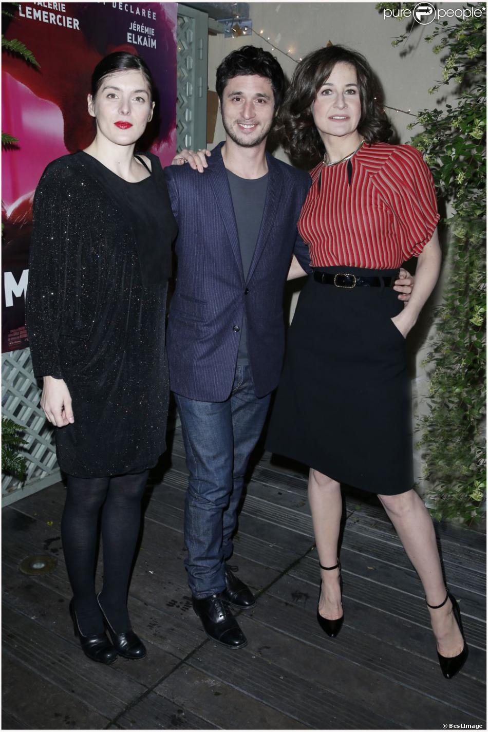 Valérie Donzelli, Jérémie Elkaim, Valérie Lemercier lors de l'avant-première du film Main dans la Main au cinéma du Panthéon à Paris le 10 décembre 2012