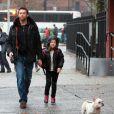 Hugh Jackman est allé chercher sa fille Ava à la sortie de l'école à New York le 10 décembre 2012.
