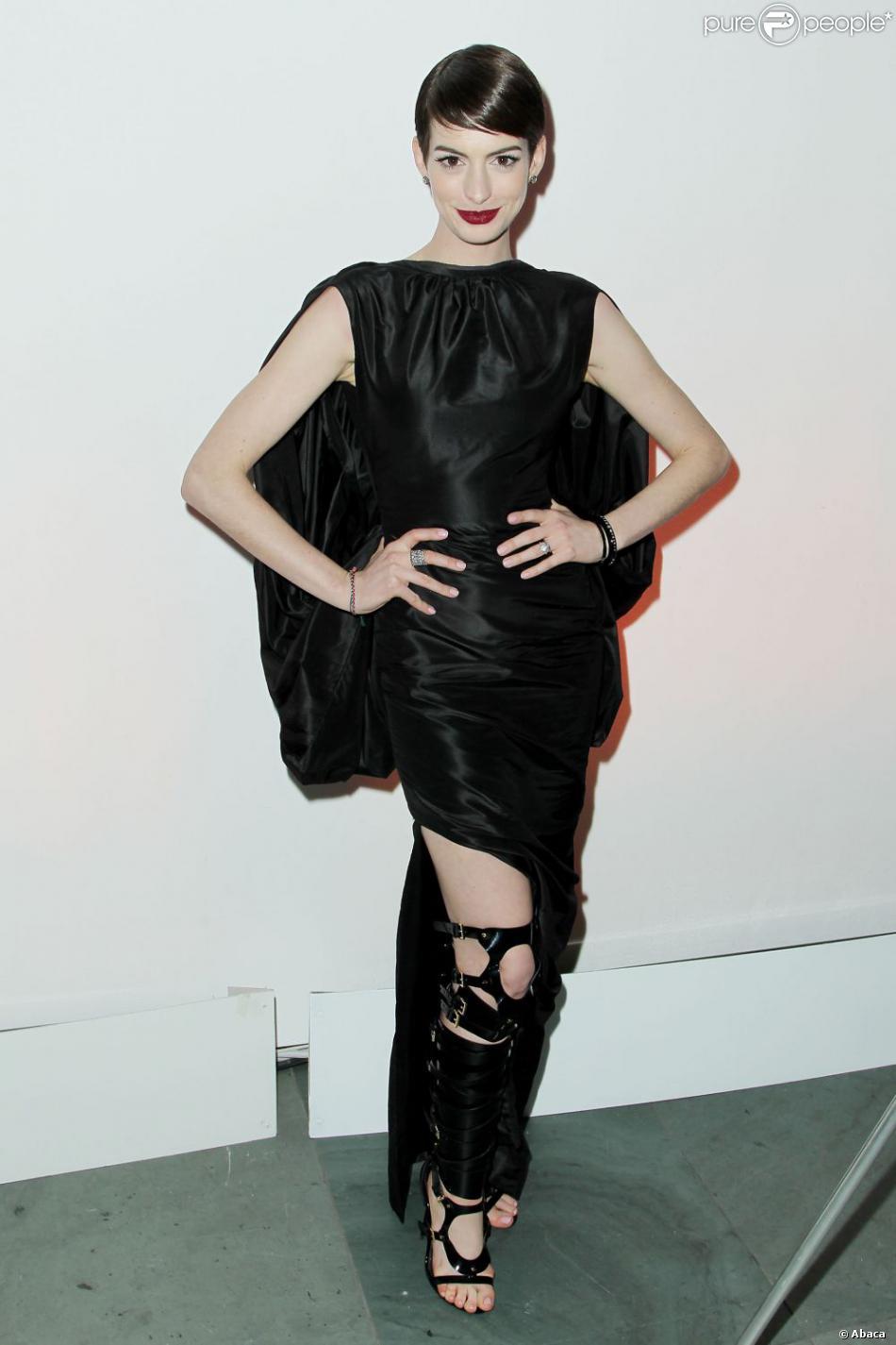 Anne Hathaway lors de l'after party des Misérables à New York le 10 décembre 2012