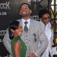 Will Smith et sa femme Jada Pinkett à la première de Hancock