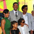 Will Smith, sa femme Jada Pinkett  et leurs enfants à la prem