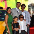 Will Smith et sa femme Jada Pinkett avec leurs enfants