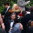 Invités du mariage de Donald Faison et Cacee Cobb, à Los Angeles, dans la maison de Zach Braff, le 15 décembre 2012.