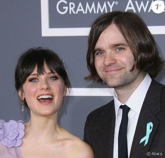 Zooey Deschanel et son désormais ex-mari Ben Gibbard à la 51e cérémonie des Grammy Awards à Los Angeles le 8 février 2009.