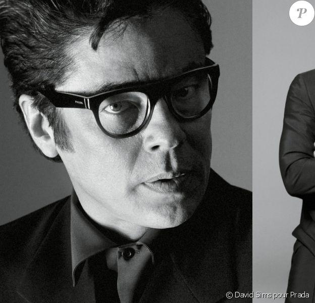 Benicio Del Toro photographié par David Sims pour la campagne printemps-été 2013 de Prada.