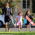 Brooke Burke, épouse de David Charvet, va chercher ses filles à l'école à Malibu le 20 décembre 2012