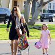 Brooke Burke va chercher ses filles à l'école à Malibu le 20 décembre 2012