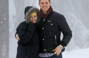 Michael Bublé : Baisers sous la neige avec sa sublime femme Luisana