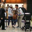 La famille de Jessica Alba est de retour à Los Angeles le 6 janvier 2012