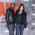 Mc Solaar et la journaliste et productrice Olivia Sabah lors de l'avant-première parisienne du film Django Unchained au Grand Rex, le 7 janvier 2013.