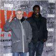 Claude Lelouch et Jacky Ido lors de l'avant-première parisienne du film Django Unchained au Grand Rex, le 7 janvier 2013.