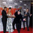 Jamie Foxx, Kerry Washington, Quentin Tarantino, Samuel L. Jackson et Christoph Waltz s'éclatent à l'avant-première du film Django Unchained au Grand Rex de Paris, le 7 janvier 2013.