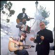 Les Innocents en tournage à Paris en 1992. Jipé Nataf et Jean-Christophe Urbain ont décidé de faire renaître en 2013 le groupe dissout en 2000.
