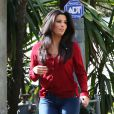 La superbe Eva Longoria se promène dans les rues de Santa Monica, le 7 janvier 2013