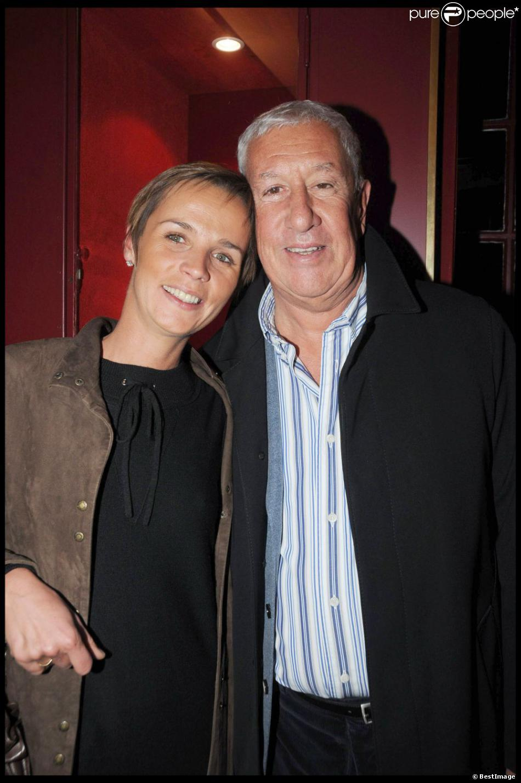 Stéphane Collaro et sa femme Stéphanie à Paris, le 20 octobre 2008.