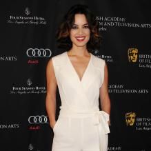 Bérénice Marlohe à la Tea Party des BAFTA à Los Angeles, le 12 janvier 2012.