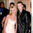 Britney Spears et Justin Timberlake lors d'une soirée à Beverly Hills, le 3 avril 2001.