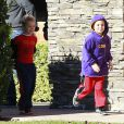 Sean Preston et Jayden James, les fils de Britney Spears vont dejeuner à Los Angeles, le 27 décembre 2012.